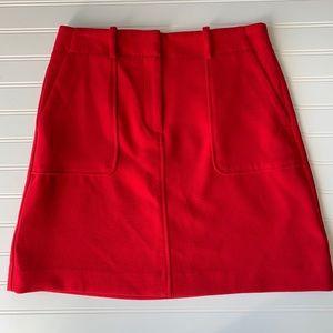 Loft Red Midi Skirt Size 4